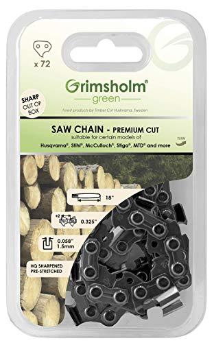 """Grimsholm Green - Sägekette 72 DL, 0,325\"""" 0,058\""""/1,5mm"""