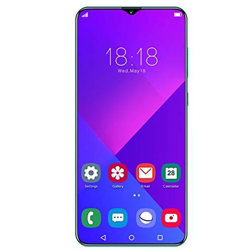 Teléfono inteligente de 6.7IN, LCD 1440X3040 Pantalla de gota de agua Huella digital y desbloqueo facial, 8 + 256GB RAM 4800mah Batería, Tarjeta dual Doble modo de espera verde, Cámara de 24MP(Verde)