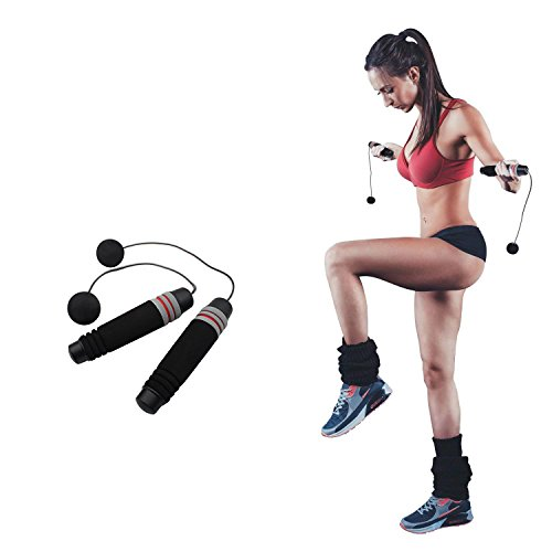 Weighted Ropeless Jump Rope Length Adjustable Skipping Rope Tangle Free No Fray No Hurt No Tripping for You and Your Children (Cordless Jump Rope without Weighted Iron Bars)
