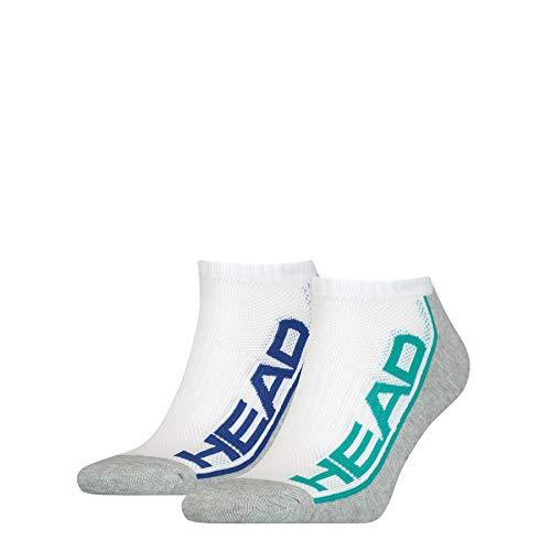 HEAD Unisex-Adult Performance Sneaker – Trainer (2 Pack) Socks, Grey Melange, 43/46