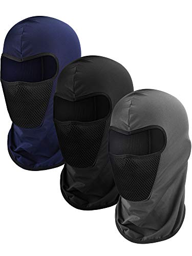 Blulu 3 Stücke Sturmhaube Gesichtsmaske Motorrad Maske Winddicht Tarnen Angeln Hut Gesichtsabdeckung für Sonne Staubschutz (Farbe Set 2)