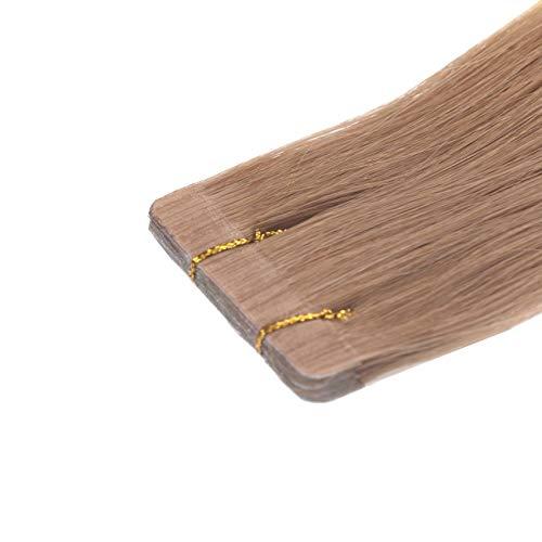Tape In Extensions Echthaar 60 cm Haarverlängerung 8 x 4cm Tressen a 3 gr, Farbe goldbraun #10