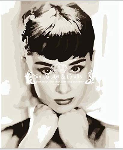 Pintura de lienzo Audrey Hepburn cuadros de decoración de
