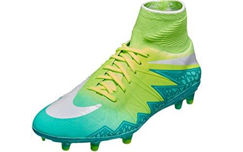 Nike Womens Hypervenom Phantom II FG Firm Ground Soccer Cleats (Blue Lagoon/White-Volt-Black Blulag/Blanc-Volt, 10)