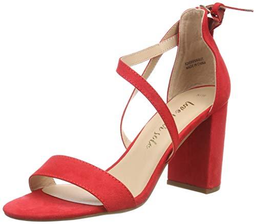 New Look Damen Scoop Sandalen, Rot (Bright Red 60), 37 EU