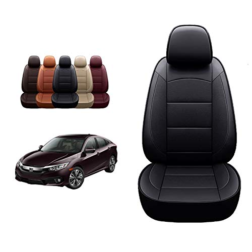 OASIS AUTO 2018-2022 Accord Custom Fit Leather/Leatherette Seat Cover Compatible with Honda Accord Sedan 2018-2019-2020-2021-2022 (Non-Split 2nd Row)
