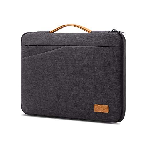 "Civoten 14 Inch Laptop Sleeve Case Notebook Bag Water-Resistant Handbag for 15"" New MacBook Pro/Lenovo ThinkPad X1 Yoga E490 T480s / HP Chromebook 14 / Dell Latitude 14 / Acer Swift 5 7, Dark Gray"