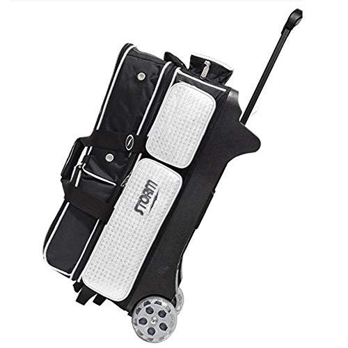 ストーム 3ボールローラーデラックスボウリングバッグボウルアクセサリー靴ポーチ STORM 3 Ball Roller Deluxe Bowling Bag Bowl Accesories Shoe Pouch (Black&White) [並行輸入品]