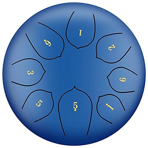 Tambor de lengua de acero de 6 pulgadas y 8 notas Instrumento de percusión Tambor para olvidar las preocupaciones Tambor sánscrito, adecuado para meditación,4