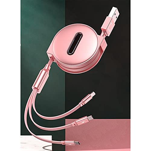 YFANHAN Cable USB Retráctil Cargador De Encendido Cable Micro USB A USB...