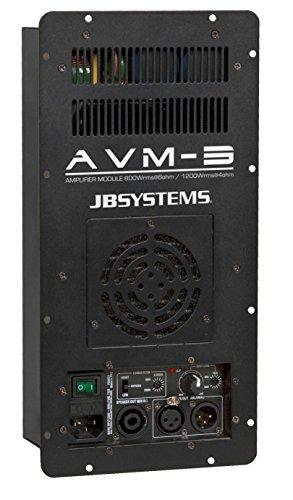JB Systems AVM-3 Verkabelt Schwarz - Audioverstärker (1300 W, D, 0,1%, 92 dB, 1300 W, 800 W)