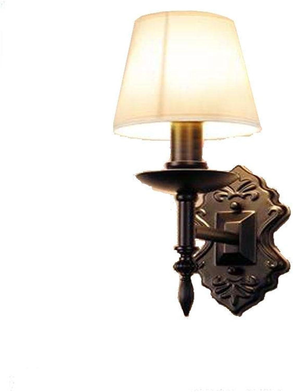 BIXDENG Moderne und einfache Lampen schmiedeeisernen Treppe Balkon Flur Wandlampe Schlafzimmer Nacht