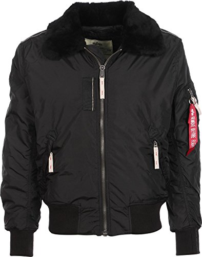 ALPHA INDUSTRIES Mens 143104-03-black-2 XL Jacke, black, XXL