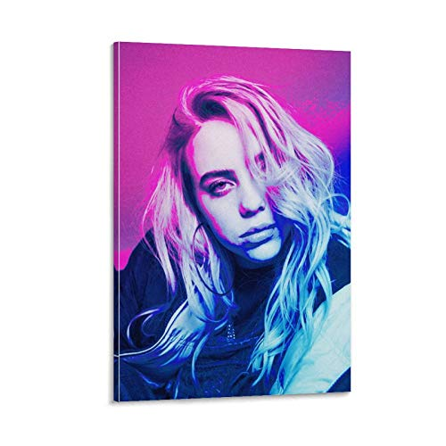 ZXCQWE Billie Eilish Neon 18 - Póster artístico de pared (60 x 90 cm)