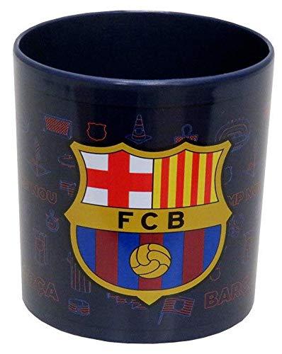 FCB FC Barcelona Taza de plástico para microondas Tazas de Desayuno, Multicolor