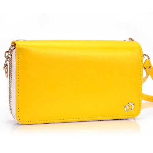 Kroo Clutch Wristlet Purse for Nokia Lumia 925 - Frustration-Free Packaging - Yellow
