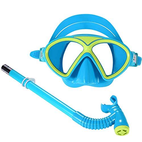 Traje de Snorkel para niños, máscara de Buceo antivaho, Gafas de natación para niños, Equipo de Snorkel con Snorkel, Apto para niños y niñas.