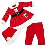 Toocool - Completo Bambina neonata Tutina Vestitino Babbo Natale Cappellino Nuovo FK826 [18/24,DJ-866 ]