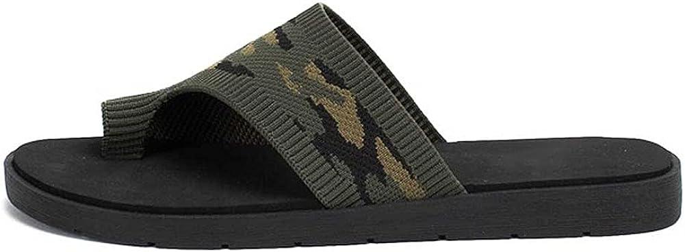 Vimisaoi Womens Fashion Slide Sandals, Breathable Clip Toe Slip On Flip Flops Flat Sandals Slippers