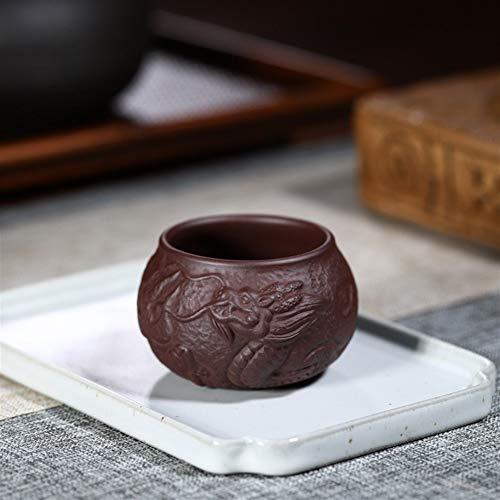 Taza de té Wangzhi con diseño de pez dragón morado Taza de dragón de pez morado.