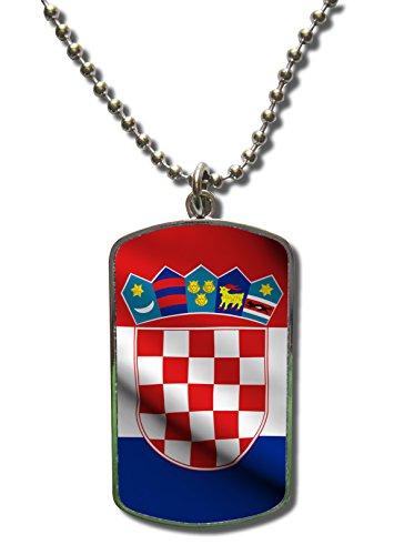 Kette Dog Tag Anhänger Kroatien Hrvatska 3