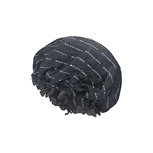 fashion Bonnets Sleeping caps with fashion pattern luxury with Double Layer (3piece deal BLK Bla)
