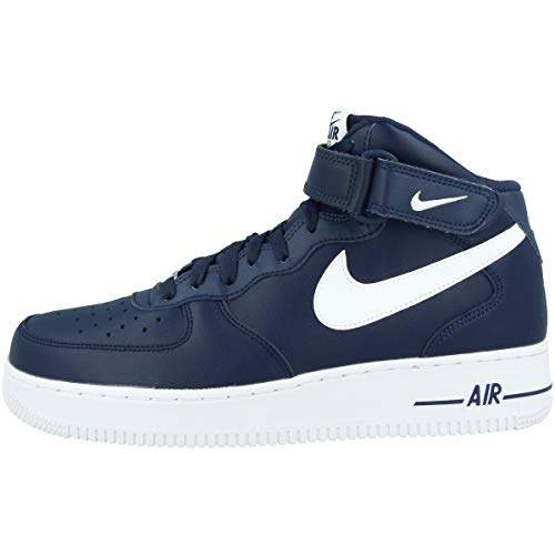 Nike AIR Force 1 Mid '07 AN20, Chaussure de Basketball Homme, Midnight Navy White, 40 EU