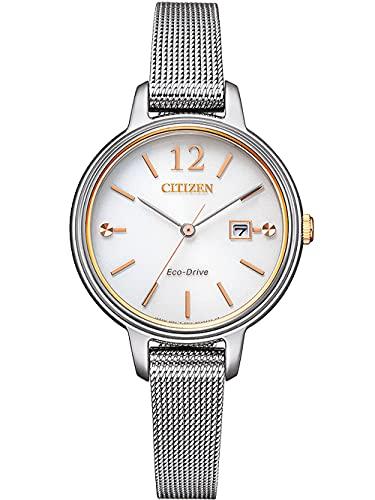 Citizen Eco-Drive EW2449-83A - Reloj de pulsera para mujer (acero inoxidable)