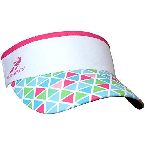 Headsweats Performance Supervisor Sun Visor, Pink Triangles, One Size