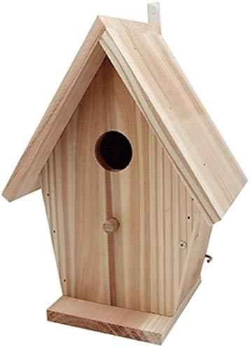 Oiseaux Nids for Cages Weatherproof Pays d'oiseaux en bois Maison design extérieur patio Nettoyage facile et Recharges Grand Feeder Premier oiseaux Table classique autoportant Hanging Décoration