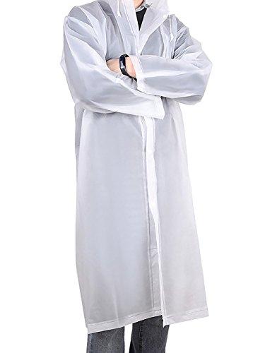 Fablcrew Manteau de pluie transparent imperméable - Veste de pluie pour homme et femme - Idéal pour la randonnée, le camping, les voyages, la pêche