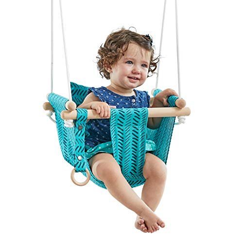 HAPPY PIE PLAY&ADVENTURE Secure Canvas Hanging Swing Seat Indoor Outdoor Hammock Toy for Toddler...