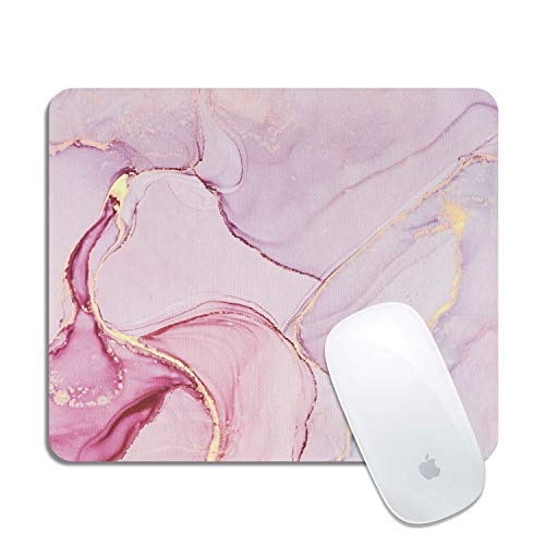 Artiron Mouse Pad, Rectangle Customized Gaming Mouse Mat Non-Slip Cute Mouse Pads with Funny Art Design for Computers Laptop, Ideal Partner for Working or Game 7.9x9.5 inch(Pink Abstract Art)