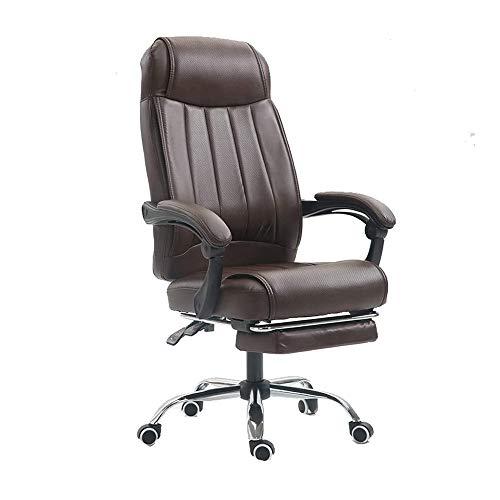 HEMFV Sedia da scrivania ergonomica Gaming Sedia, Sedia da ufficio reclinabile con poggiapiedi, ergonomica in pelle di gioco Sedia con braccioli e ruote, regolabile in altezza confortevole sedia girev