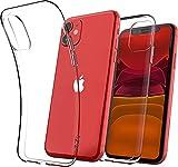 Cover Iphone 11, Compatibile Custodia Iphone 11 In Silicone Gel Tpu Morbido Con Assorbimento Degli Urti E Anti-Graffio Anti-Yellowing Ultra Trasparente