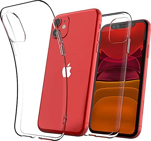 Cover Iphone 11, Compatibile Custodia Iphone 11 In Silicone Gel Tpu Morbido Con Assorbimento Degli Urti E Anti-Graffio Anti-Yellowing (Basic, Ultra Trasparente)