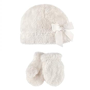 Hudson Baby Unisex Baby Sherpa Hat and Mitten Set Girl Cream Toddler 18-24 Months