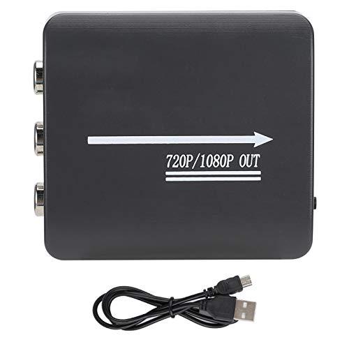 Adaptador Convertidor de Audio y Video Mini AV/CVBS a HDMI, 1080P TV/PC/PS3/STB VHS/VCR/Blue-Ray Reproductores de DVD Conmutador de Señal