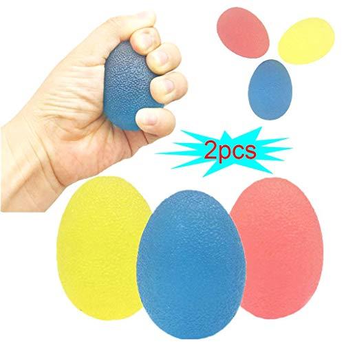 WZYJ 3 Strength Stress Relief Ball - Handtherapie, Arthritis-Übung, Stärkung des Fingergriffs, Erhöhung der Fingerflexibilität,2pcs