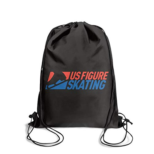 Unisex U.S. Figure Skating Sports Drawstring Bags Thick Waterproof Waterproof Hiking Backpack