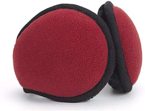 GJJSZ Ear Muffs Warm Earmuffs Calentadores de oídos para Hombres Mujeres Fleece Plegable Unisex Winter Outdoor Headset(Color:Rojo,Tamaño:Talla única)
