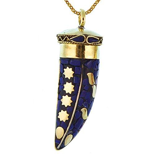 Chic-Net Brass Azul Púrpura remolque mosaicos de oro de dientes de sa