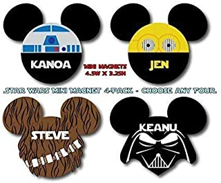 Disney Inspired Star Wars MINI SIZE Mouse Head Magnet 4-Pack - Choose Any Four - For Your Disney Cruise
