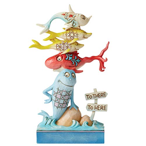 Enesco Dr. Seuss by Jim Shore Doctor Seuss One Fish Two Fish Figurine,...