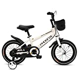 Phoenix KAKU Kids Bike for Boys and Girls, 12 14 16 18 inch with Training Wheels, in Multiple Colors (White, 12 Inch with Training Wheels)