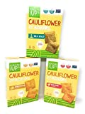 From the Ground Up Cauliflower Cracker Variety Bundle of Three Flavors: One Box Each of Sea Salt, Nacho and Cheddar (3 Boxes)