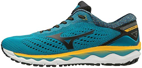 Mizuno J1Gc19021043 - Zapatilla Wave Sky 3 - Color: Bluejewel/Black/1235 C Talla: 43 - Unisex