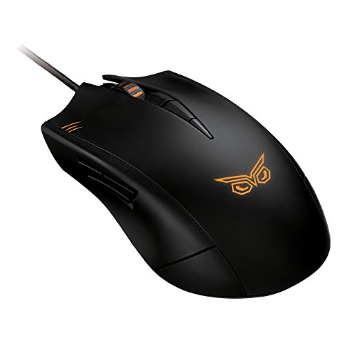 Asus Strix Claw Dark Edition optische Gaming Maus (5000dpi, 1:1 Tracking, drei programmierbare Tasten) schwarz