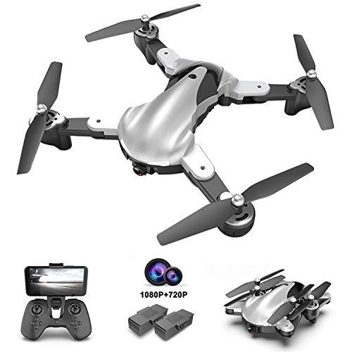 Pengrui Drohne mit Dual Kamera HD 1080P und 720P Faltbare Drohne FPV WLAN 120° Weitwinkel RC Quadrocopter Mit 40 Minuten Flugzeit, Follow-Me Modus, Gestensteuerung,Ideal Drohne für Anfänger und Kinder