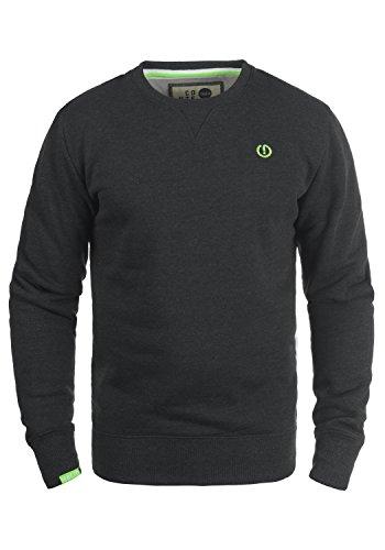 !Solid Benn O-Neck Herren Sweatshirt Pullover Pulli Mit Rundhalsausschnitt, Größe:L, Farbe:Dark Grey Melange (8288)